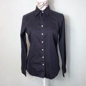 Lands End oxford no iron button down shirt size 10